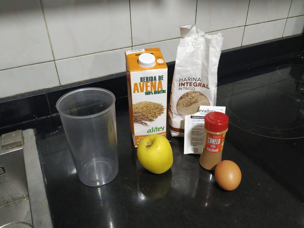 ingredientes tortitas de avena y manzana