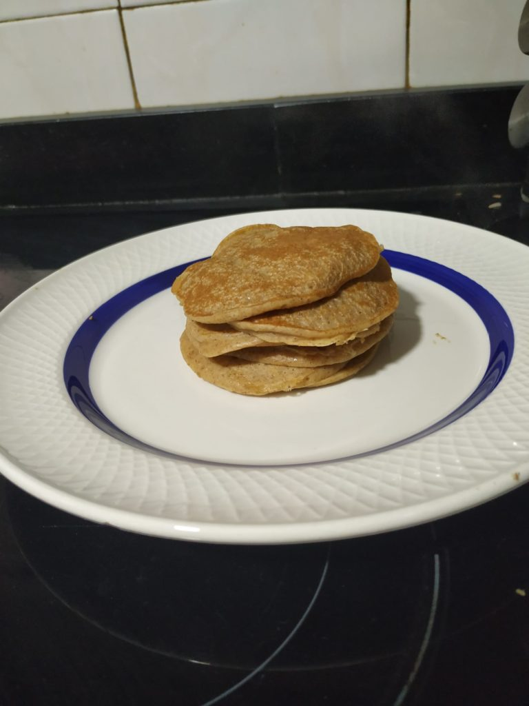 tortitas de manzana blw