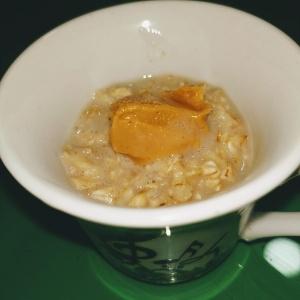 porridge de avena y crema de cacahuete