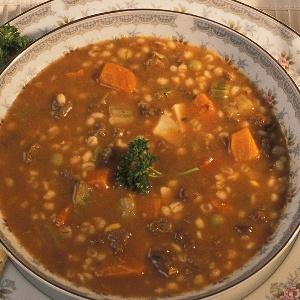 Sopa de lentejas con arroz BLW