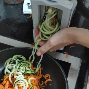 Espaguetis BLW vegetales